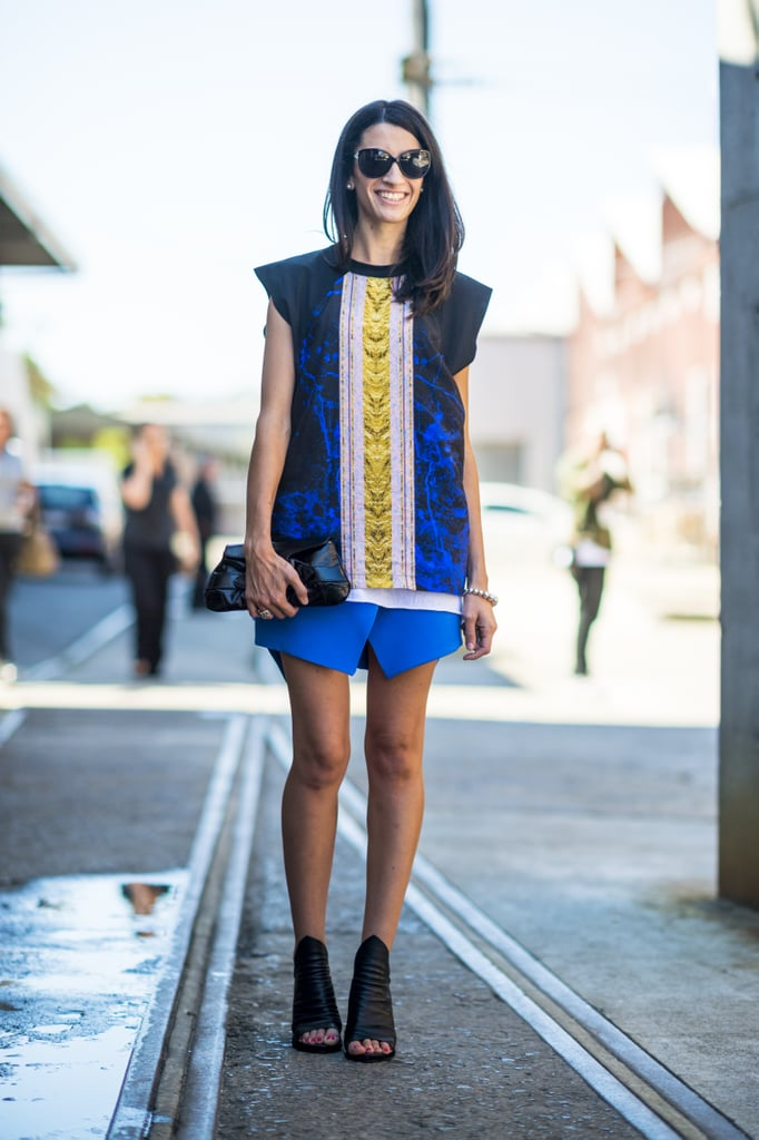 It was all about the bright blues and the great booties in this understated and totally cool mix. Source: Le 21ème | Adam Katz Sinding