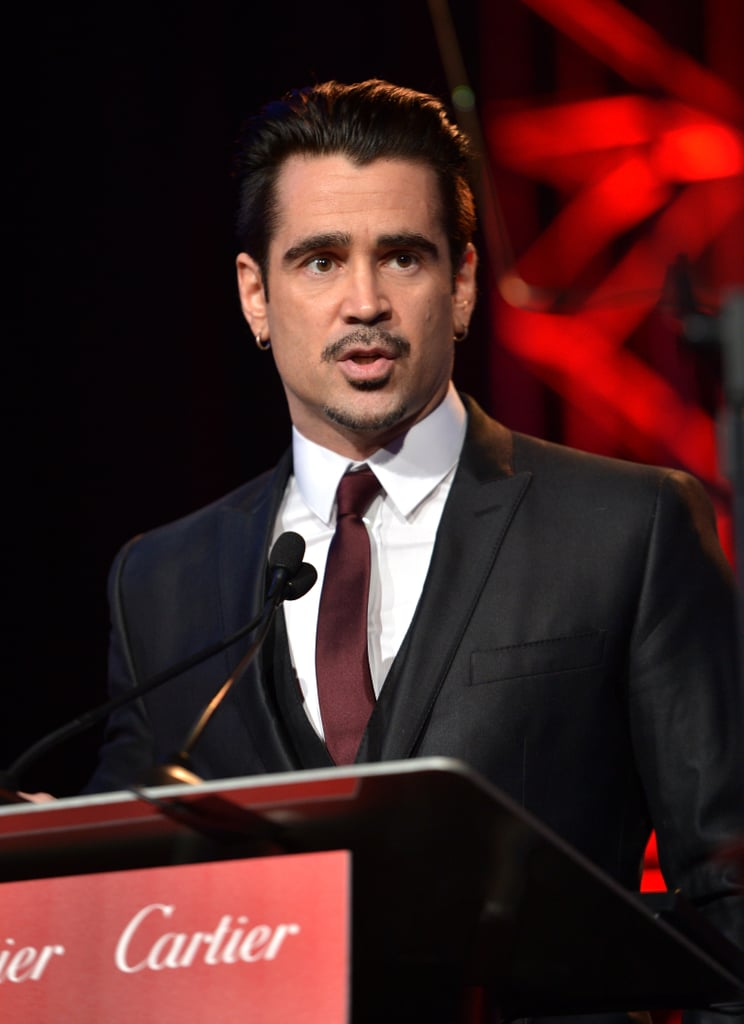 Colin Farrell took the stage to honour the composer of Saving Mr. Banks.