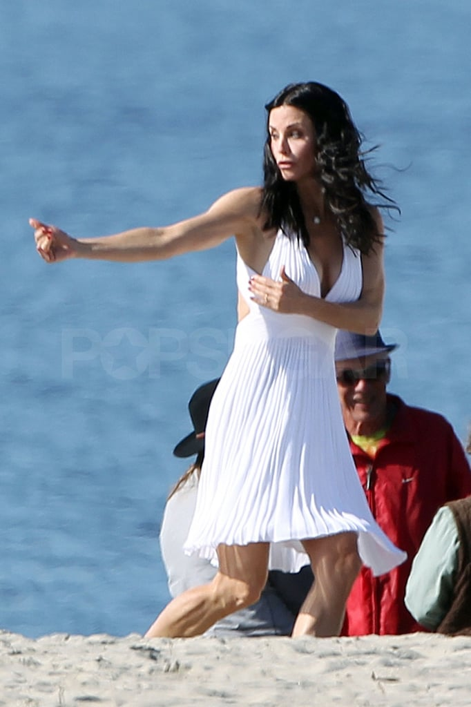Courteney Cox got animated for one sequence of shots.