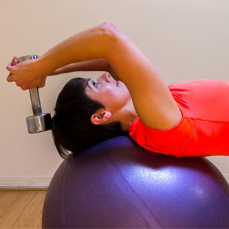 Ball Exercise to Work the Abs and Triceps
