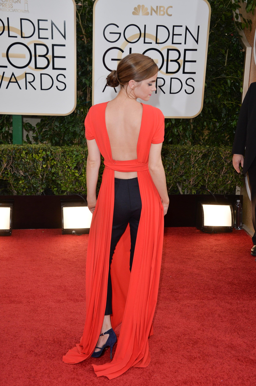Emma Watson at the Golden Globes