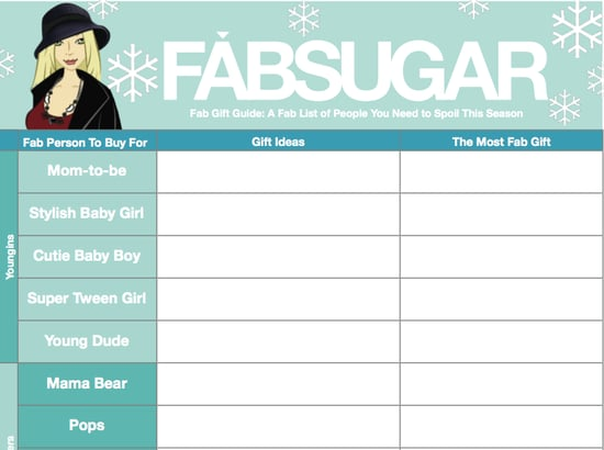 Free Holiday Gift Organizer Download