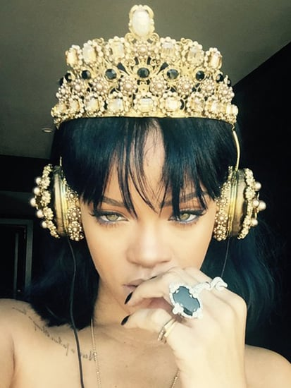 Rihanna Tells Fans She's Completed Her New Album ANTIwith $9,000 Dolce & Gabbana Headphones