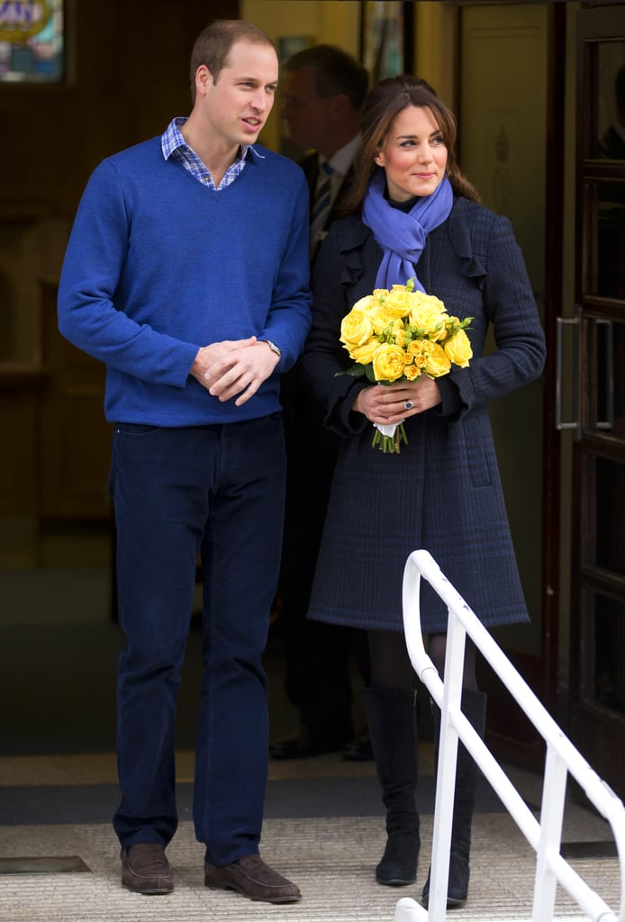 After being admitted to the King Edward VII Hospital for acute morning sickness, Kate Middleton got picked up by Prince William to go home on Dec. 6, 2012.