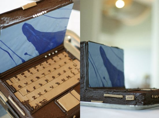 The Chocolate Laptop Wedding Cake