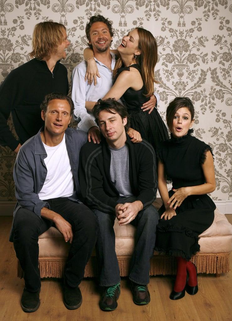 The Last Kiss stars Eric Christian Olsen, Michael Weston, Jacinda Barrett, Tony Goldwyn, Zach Braff and Rachel Bilson joked around during their official portrait studio session in 2006.