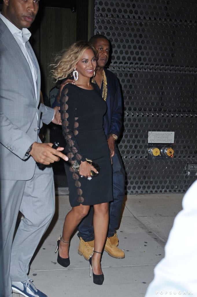 Beyoncé Knowles showed off her wavy new hairstyle in NYC with Jay Z.