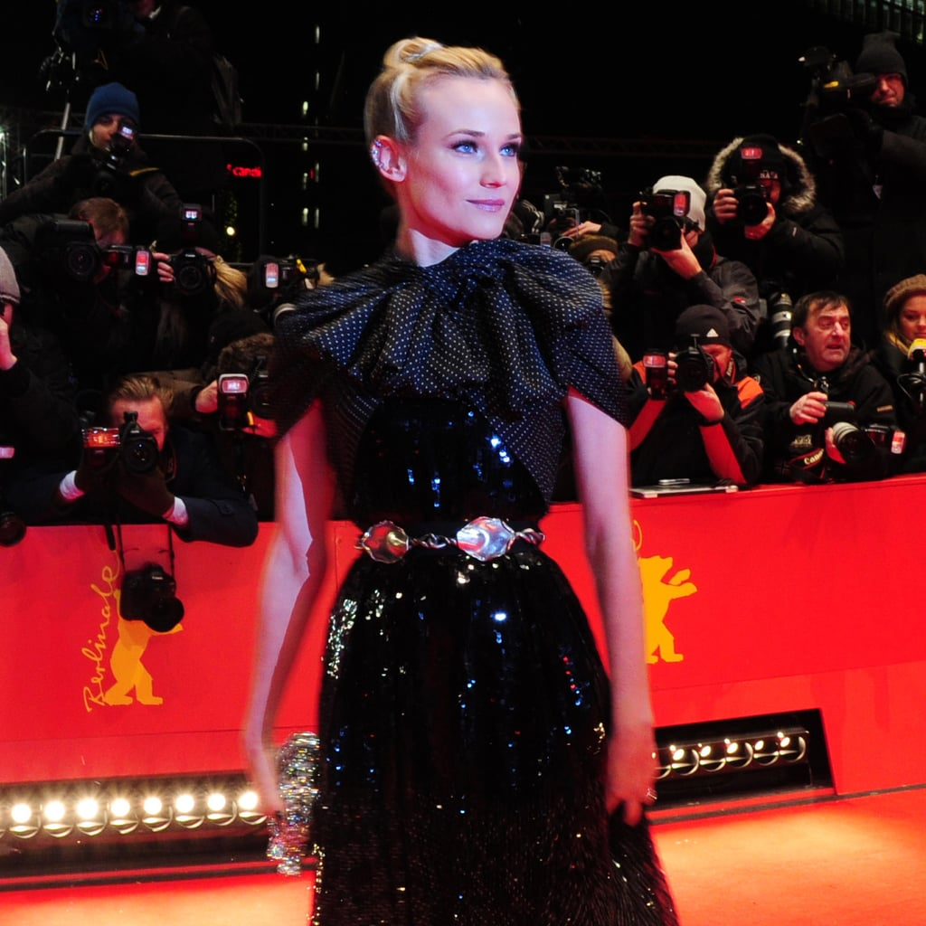 Diane Kruger arrived at the Berlin premiere of Farewell, My Queen.