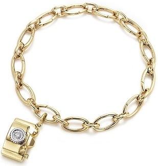Tiffany & Co.'s Gold and Diamond Camera Charm Bracelet