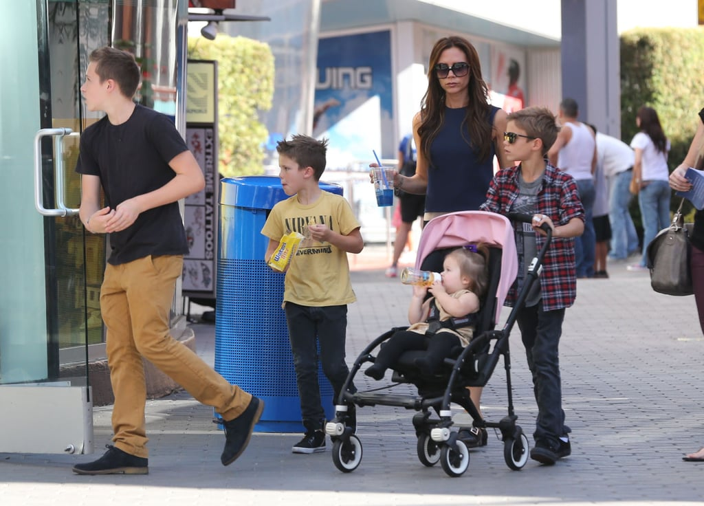 Victoria Beckham took all four of her kids shopping at LA's Grove in November.