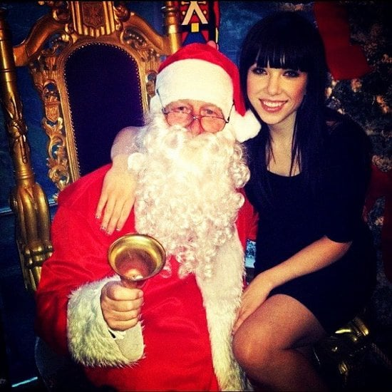 Carly Rae Jepsen got in good with Santa. Source: Instagram user carlyraejepsen