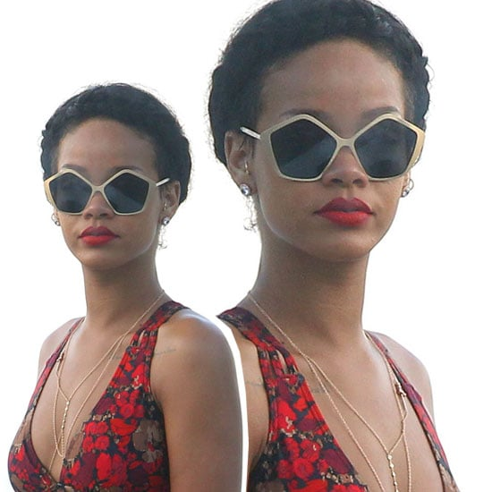 Shop Rihanna's Statement Sunglass Style at Sunglass Hut