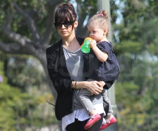Slide Photo of Harlow Madden Drinking Juice With Nicole Richie in Los Angeles