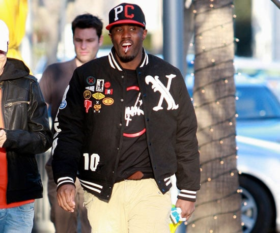 Slide Photo of Sean Combs Eating Candy in LA