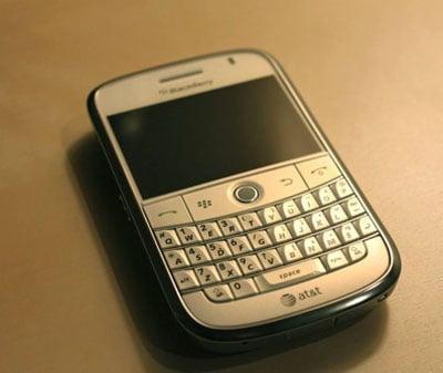 White BlackBerry Bold 9000