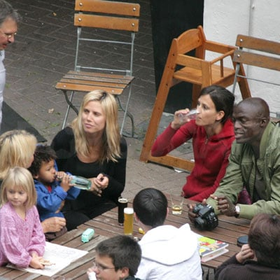 Photos of Heidi Klum and Seal Having Lunch With Their Kids in Germany