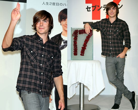 Photos of Zac Efron at a Press Conference For 17 Again in Tokyo