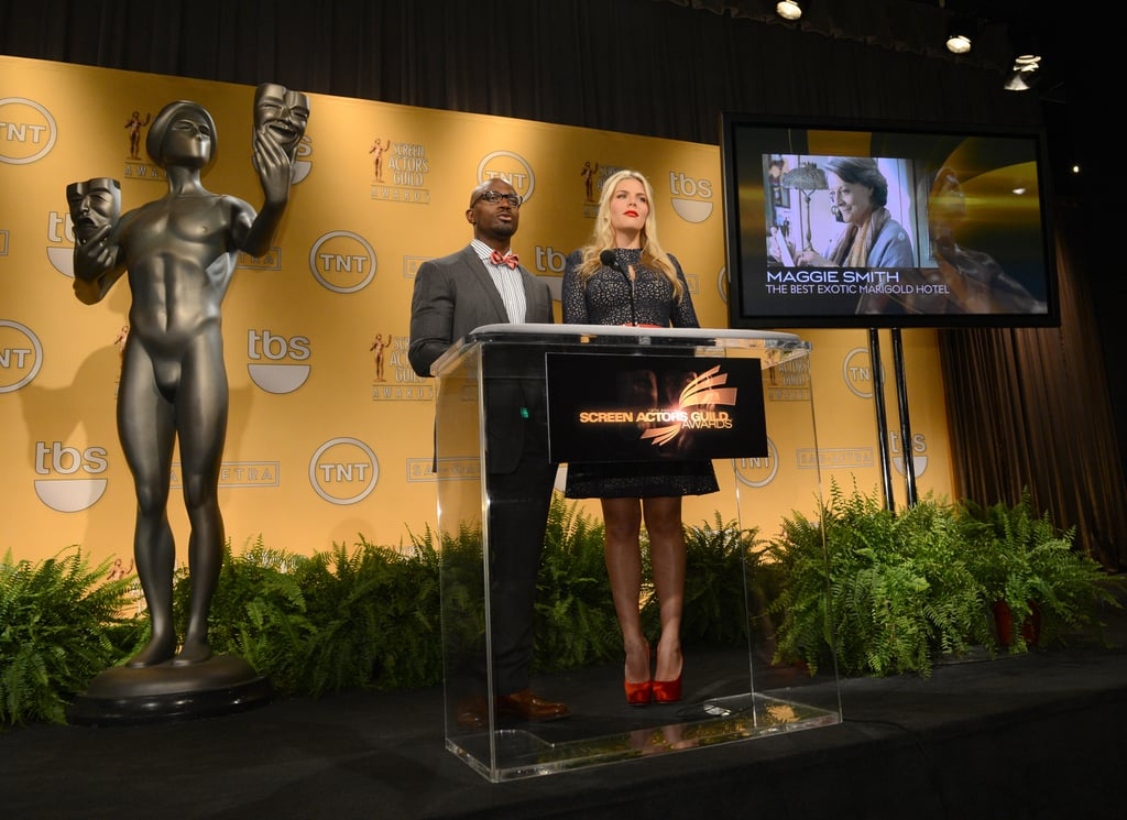 Taye Diggs and Busy Phillips were out in LA for the SAG Nominations.