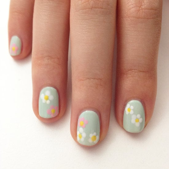 This pastel palette of flowers is an easy way to wear a floral print on your nails.