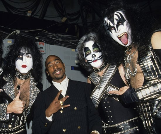 Tupac Shakur joined the members of KISS in 1996.