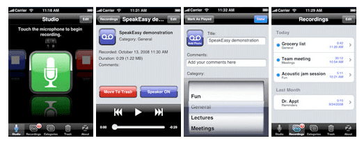 Daily Tech: SpeakEasy Makes Recording on the iPhone Easy