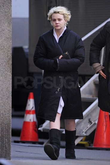 Pictures of Carey Mulligan Filming Shame in New York City