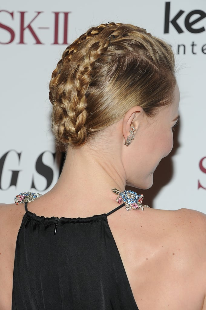 In case you thought that braids were reserved for more casual occasions, Kate Bosworth proves they work for a sophisticated affair, too, with this updo.
