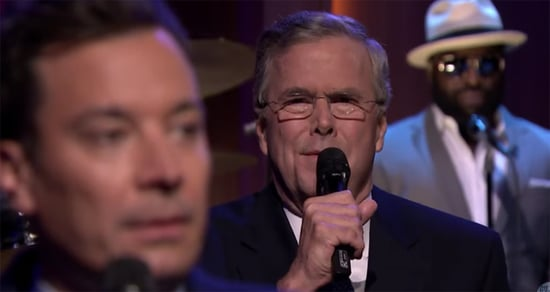 Best of Late Night TV: Slow Jam the News with Jeb Bush, Donald Trump Game Show, OITNB Star Sings 'Fame'