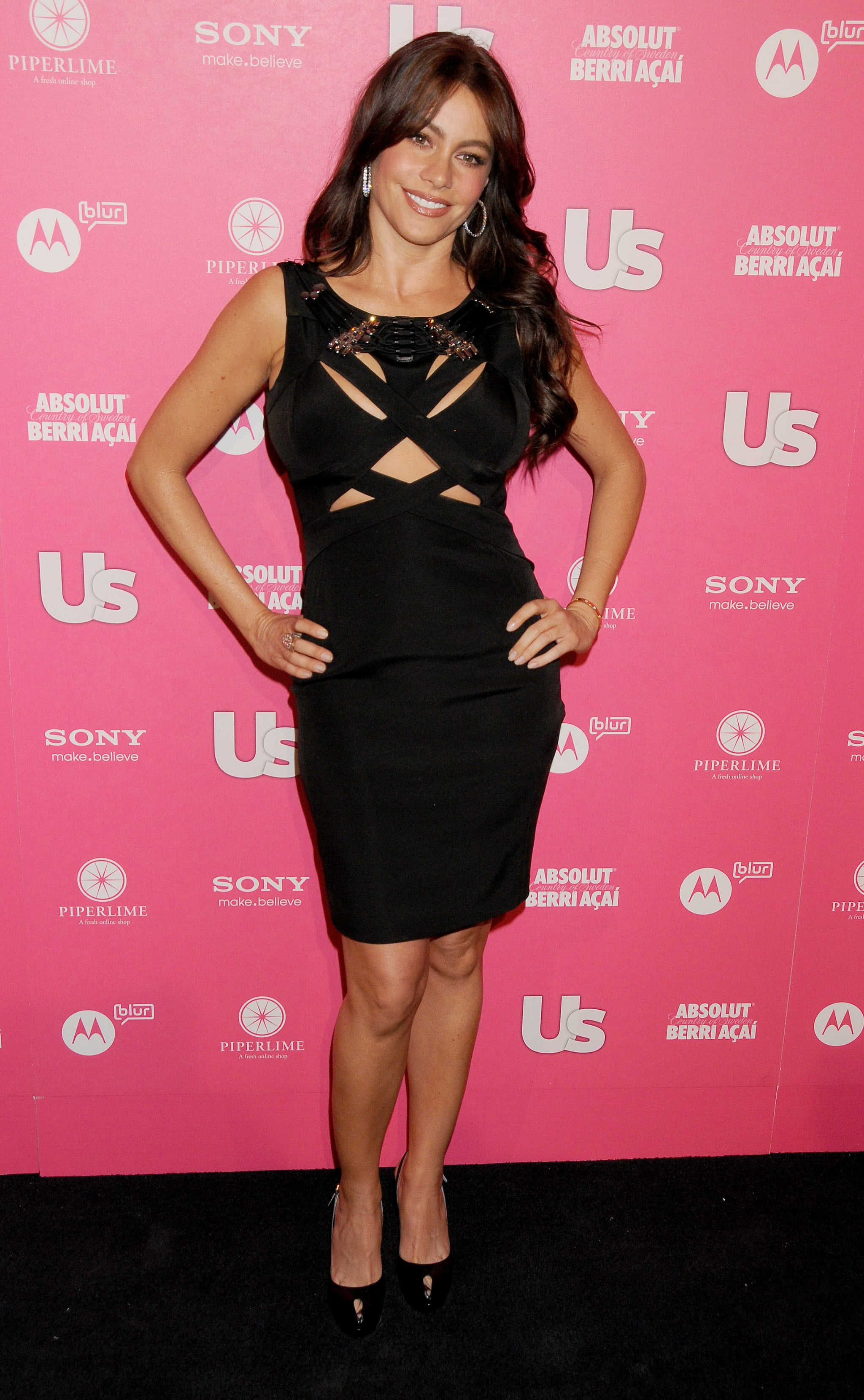 X marks the spot for sultry style at Us Weekly's Hot Hollywood Style party in April 2010.