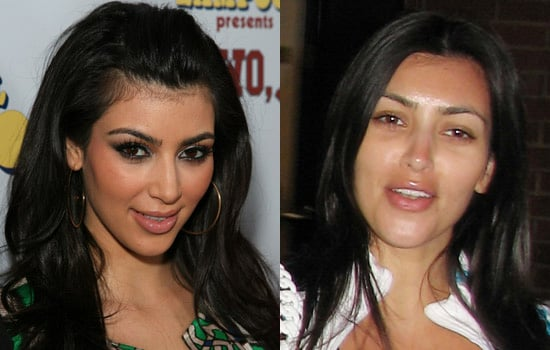 Does Kim Kardashian Look Better With Full Makeup or None?