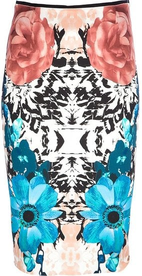 You might be surprised by how flattering the graphic print on this Pinko Floral Pencil Skirt ($231) can be.