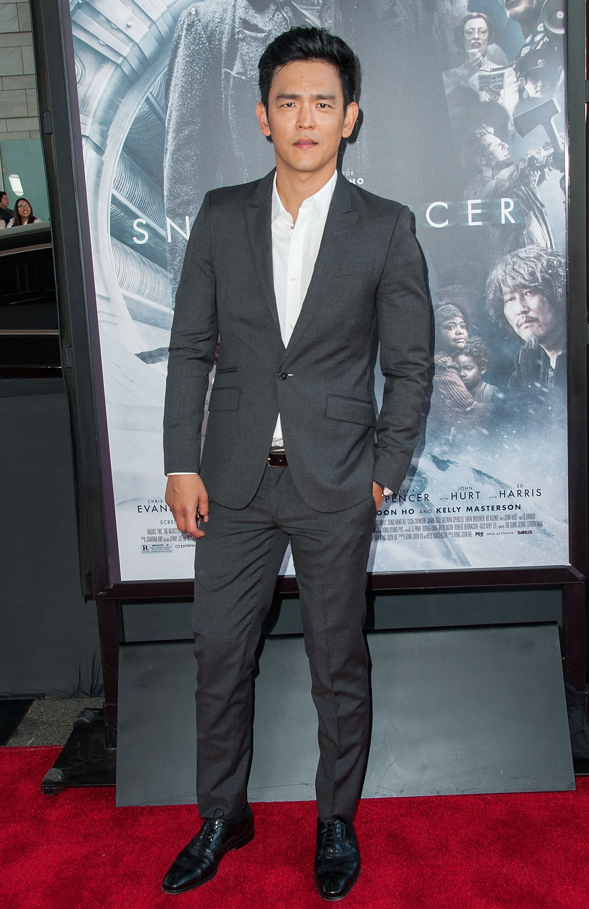 John Cho suited up for the Snowpiercer premiere.