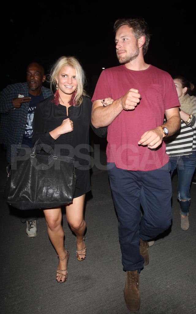 Jessica Simpson and fiancé Eric Johnson.