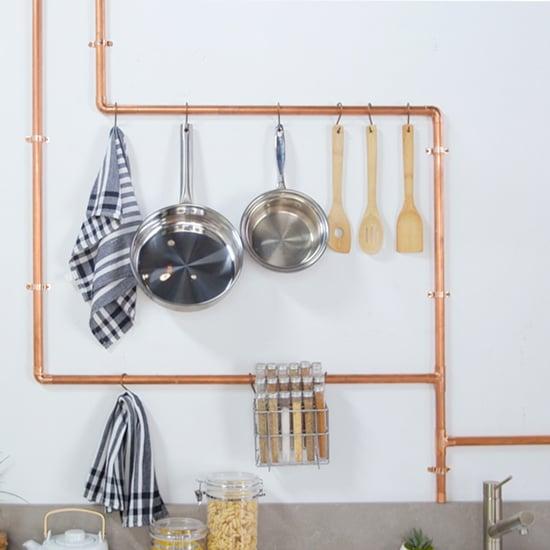 DIY Copper Pipe Kitchen Rack
