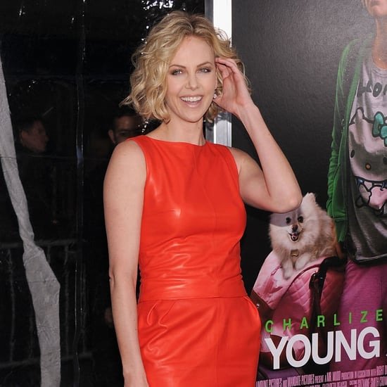 Charlize Theron Red Dress Young Adult Premiere Pictures