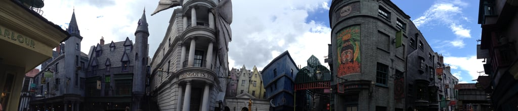 I took this panoramic shot of Diagon Alley.