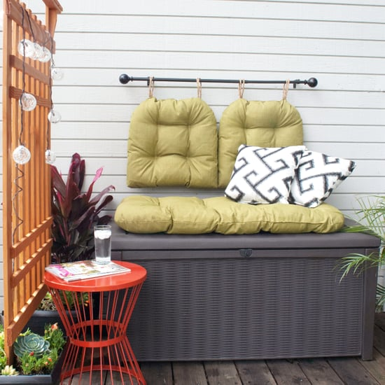Make the Most of Any Small Outdoor Space With a Cozy Storage Bench