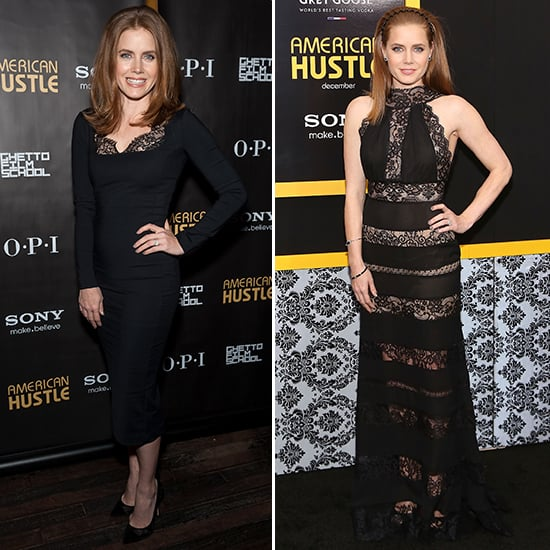 Amy Adams in Lace Dress at American Hustle Premiere