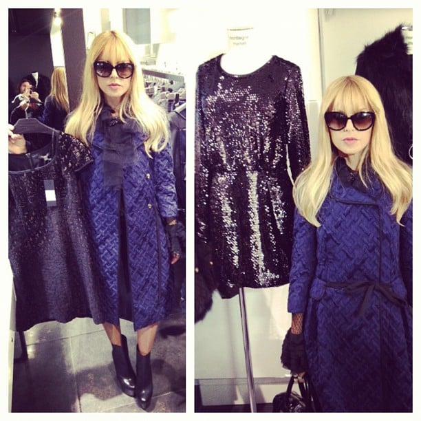 Rachel Zoe was excited to see her collection among the likes of Alaia in a Paris boutique. Source: Instagram user rachelzoe