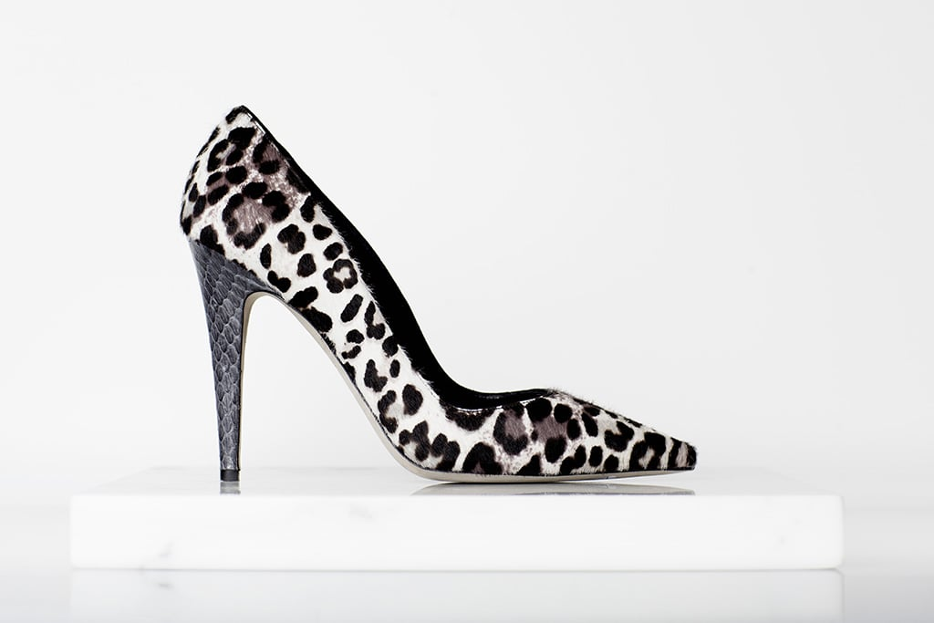 Addiction Pony Pump in Grey Leopard ($650) Photo courtesy of Tamara Mellon