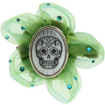 A Cute Halloween Calavera Hair Accessory