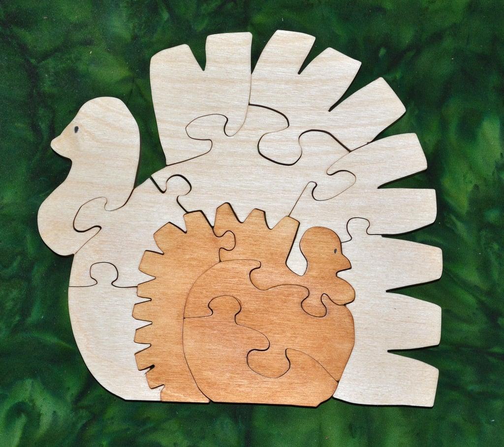 Wooden Turkey Puzzle