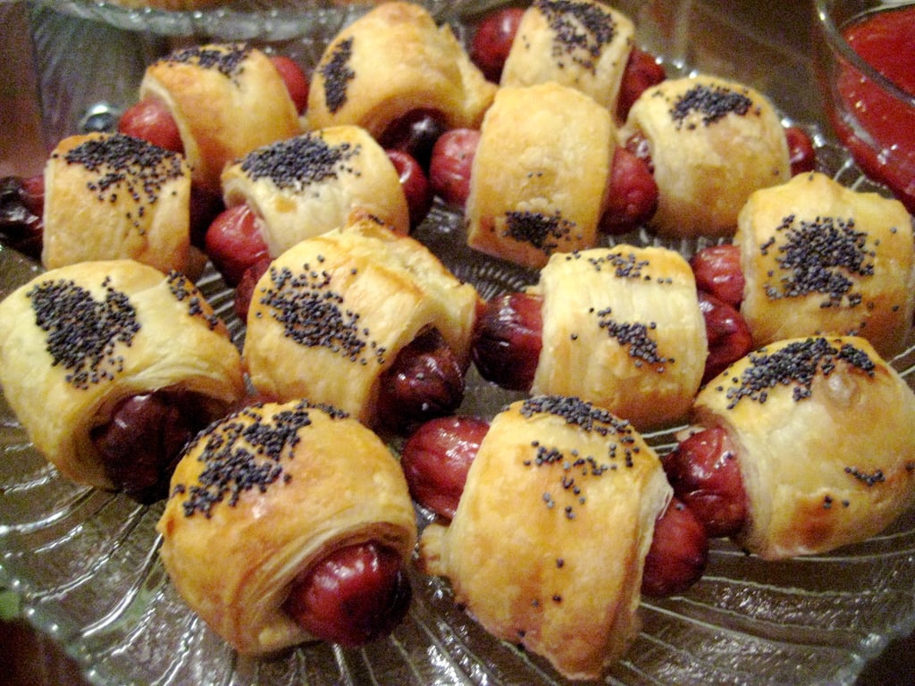 My favorite part of the menu were these pigs in a blanket. The easy recipe wraps cocktail sausages in puff pastry.