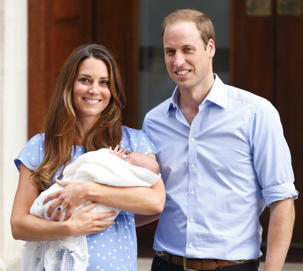 Prince George Nailing the Royal Wave at Just 1 Day Old