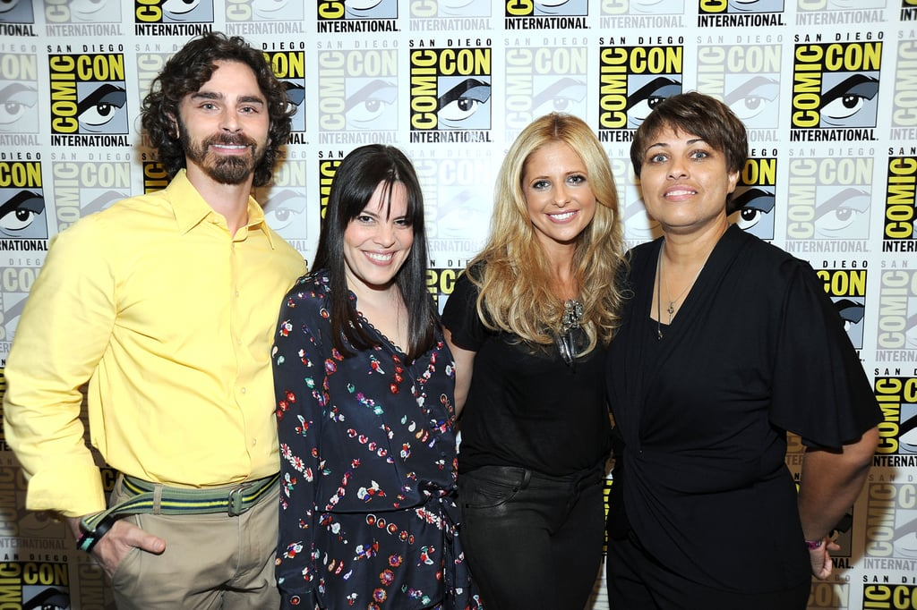 Sarah Michelle Gellar was joined by her Ringer producers at Comic Con in San Diego.