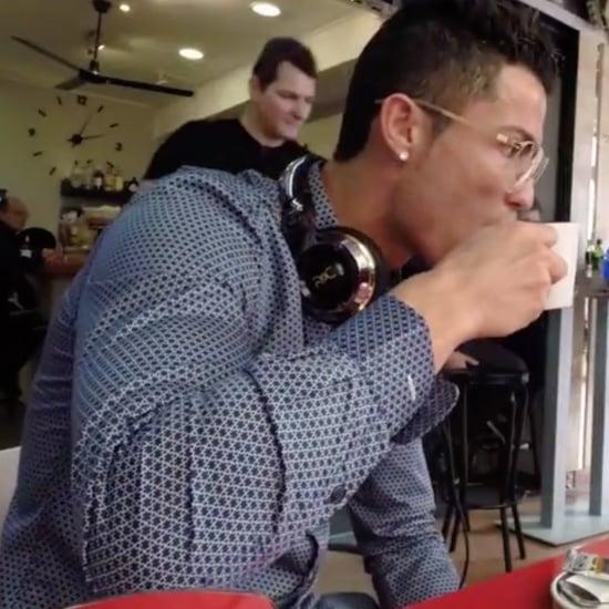 Cristiano Ronaldo Takes Photos With Fans   Video