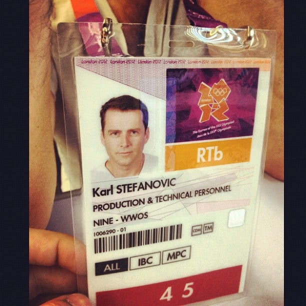Karl Stefanovic's ID seemed to have the wrong title . . . Source: Instagram user thetodayshow