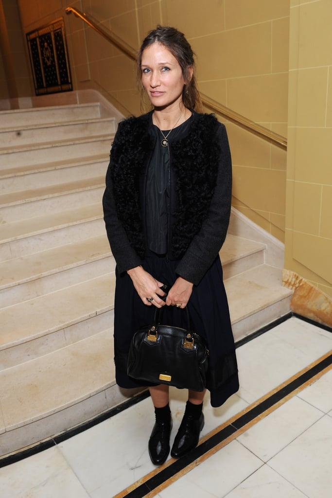 Lulu Kennedy wore black at the-miumiu-london day two.