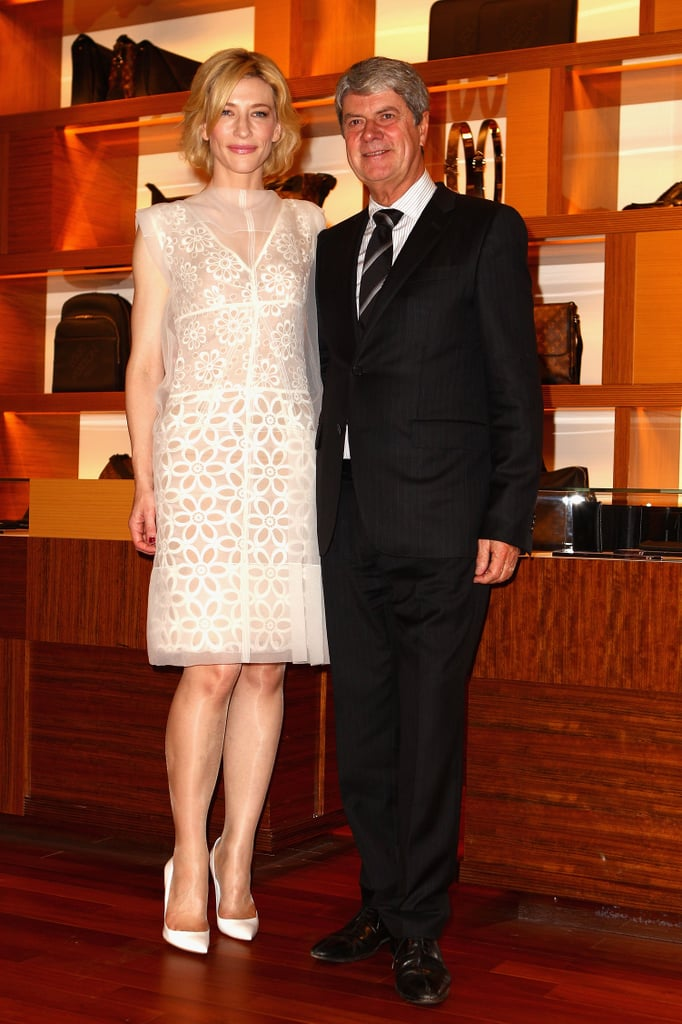 Cate Blanchett and Yves Carcelle, Chairman and CEO of Louis Vuitton