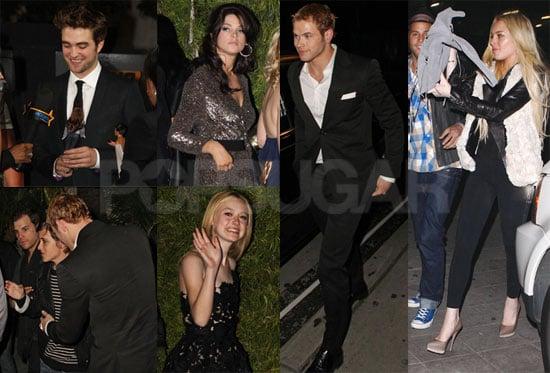 Photos of Dakota Fanning, Samantha Ronson, Robert Pattinson, Kellan Lutz, and Ashley Greene at a New Moon Party